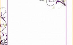 007 Unforgettable Blank Birthday Invitation Template For Microsoft Word Sample