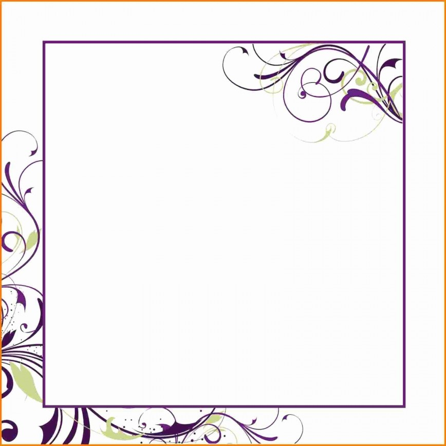 007 Unforgettable Blank Birthday Invitation Template For Microsoft Word Sample 868