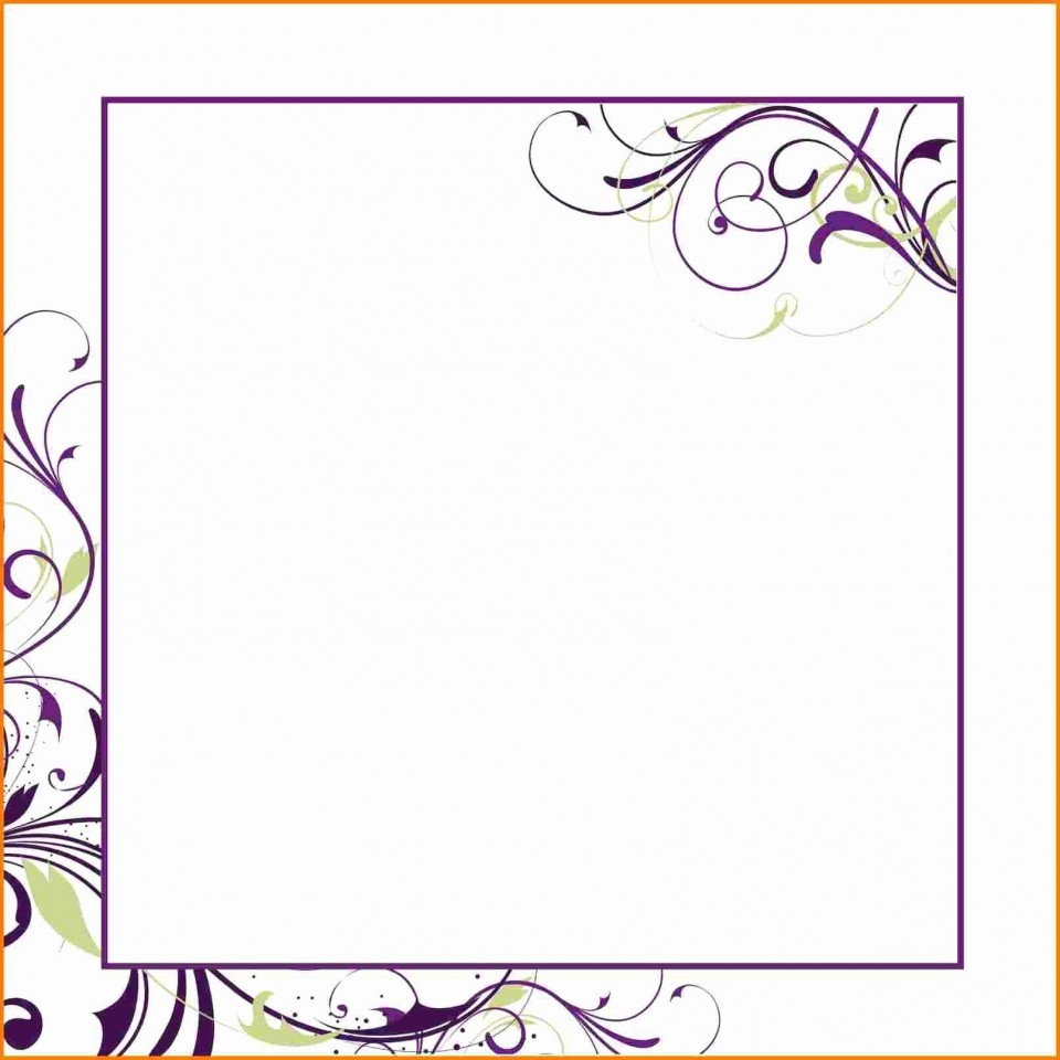 007 Unforgettable Blank Birthday Invitation Template For Microsoft Word Sample 960