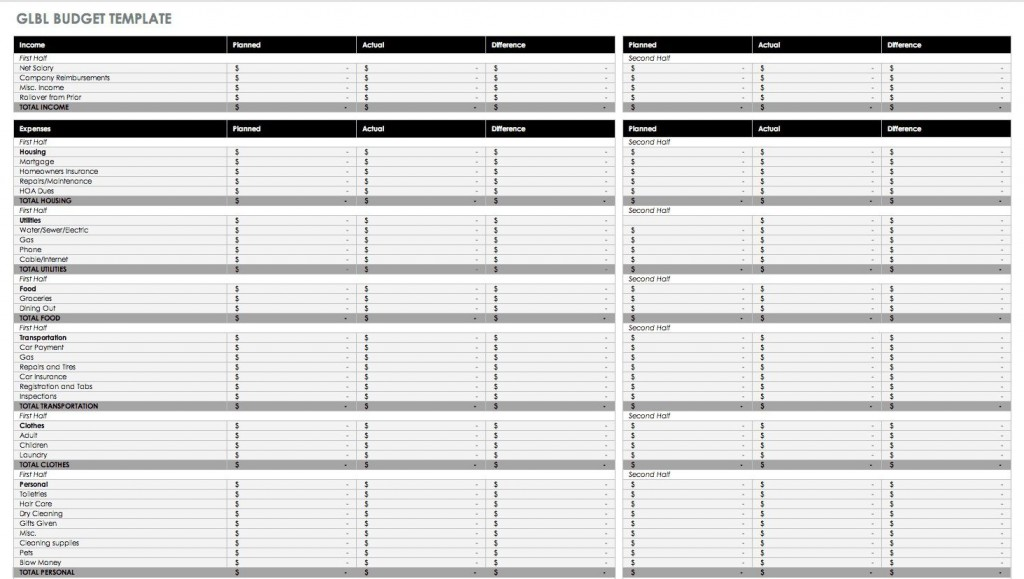 007 Unforgettable Blank Monthly Budget Sheet High Resolution  Sheets Free Printable Editable Template Personal WorksheetLarge