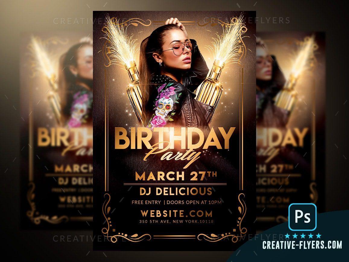 007 Unforgettable Free Birthday Flyer Template Psd Idea  Foam Party - Neon Glow Download PoolFull