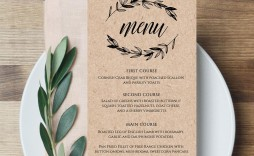 007 Unforgettable Free Wedding Menu Template To Print Inspiration  Printable Card