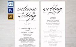 007 Unforgettable Free Wedding Program Template Design  Templates Pdf Download Fan Word