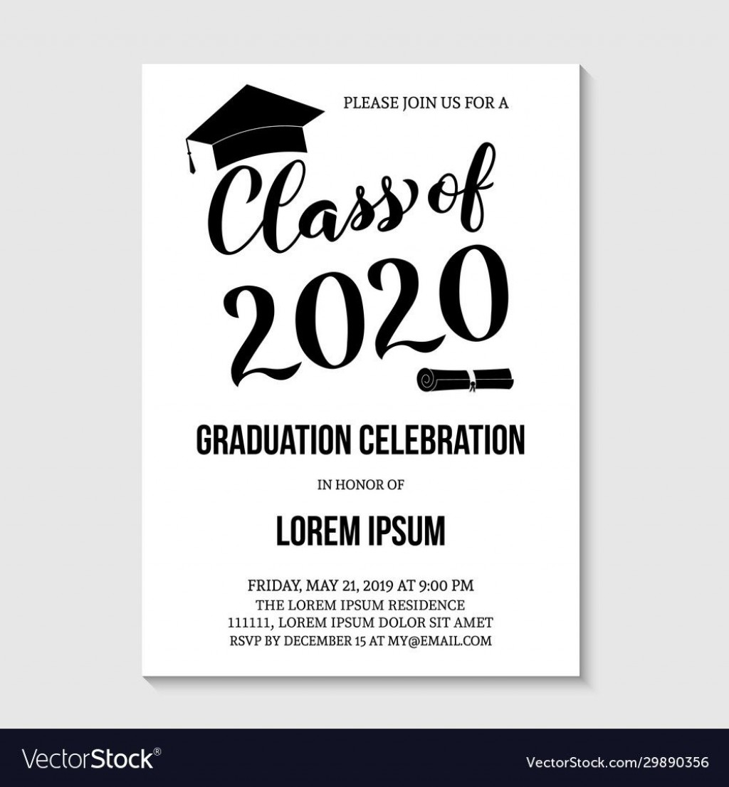 007 Unforgettable Graduation Party Invitation Template Concept  Templates 4 Per Page Free ReceptionLarge