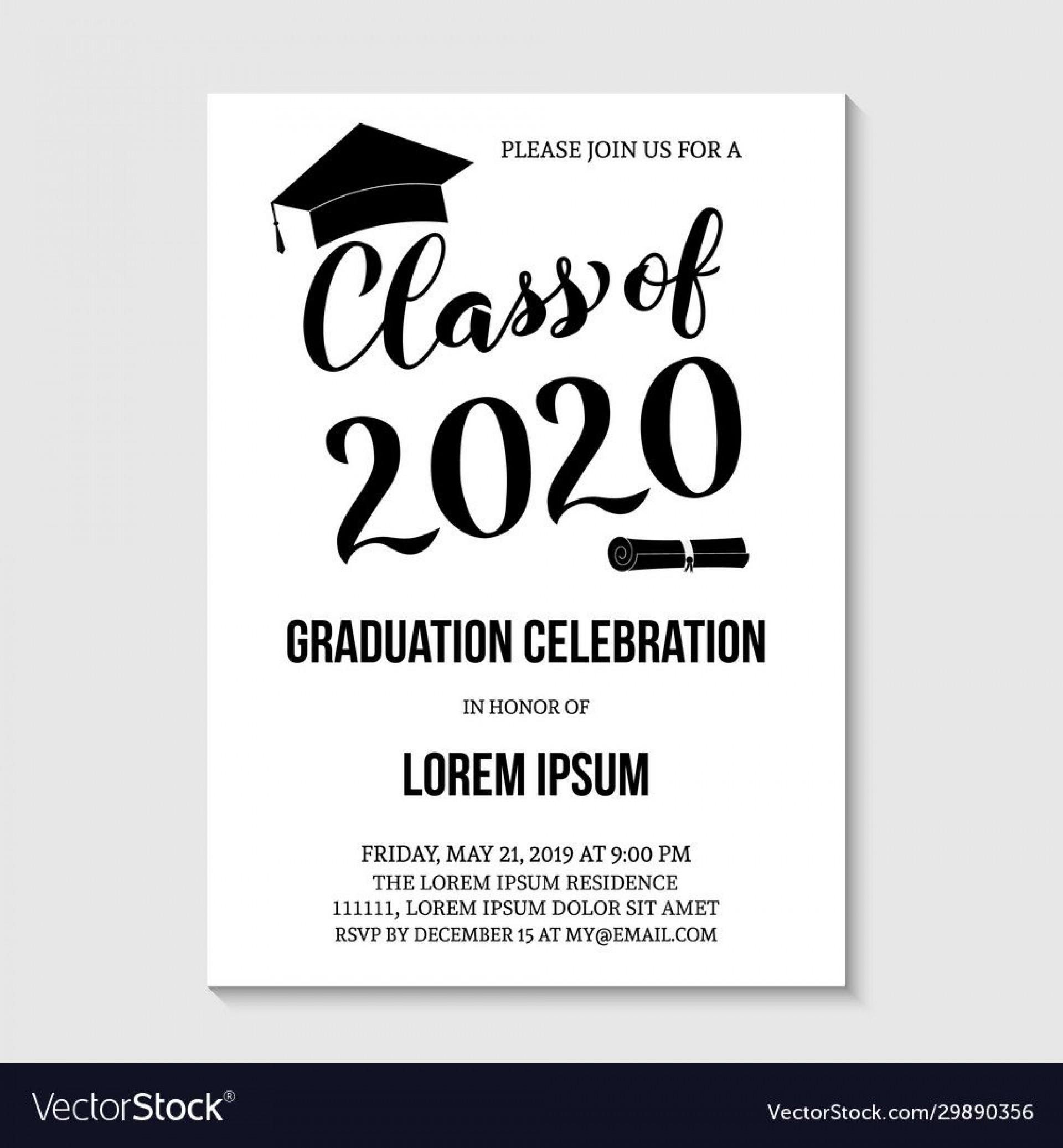 007 Unforgettable Graduation Party Invitation Template Concept  Templates 4 Per Page Free Reception1920