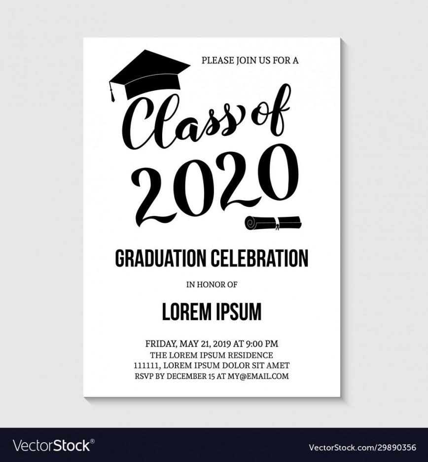 007 Unforgettable Graduation Party Invitation Template Concept  Templates 4 Per Page 2020