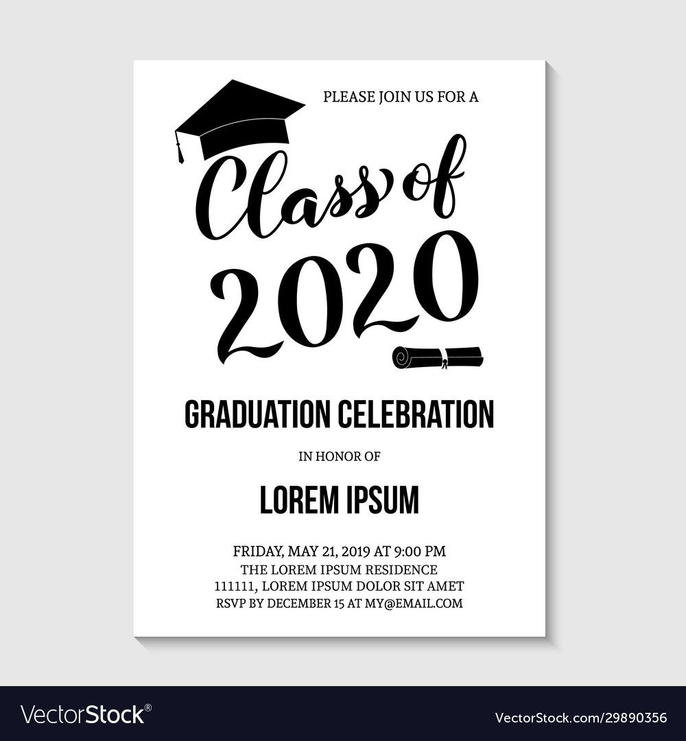 007 Unforgettable Graduation Party Invitation Template Concept  Templates 4 Per Page Free ReceptionFull