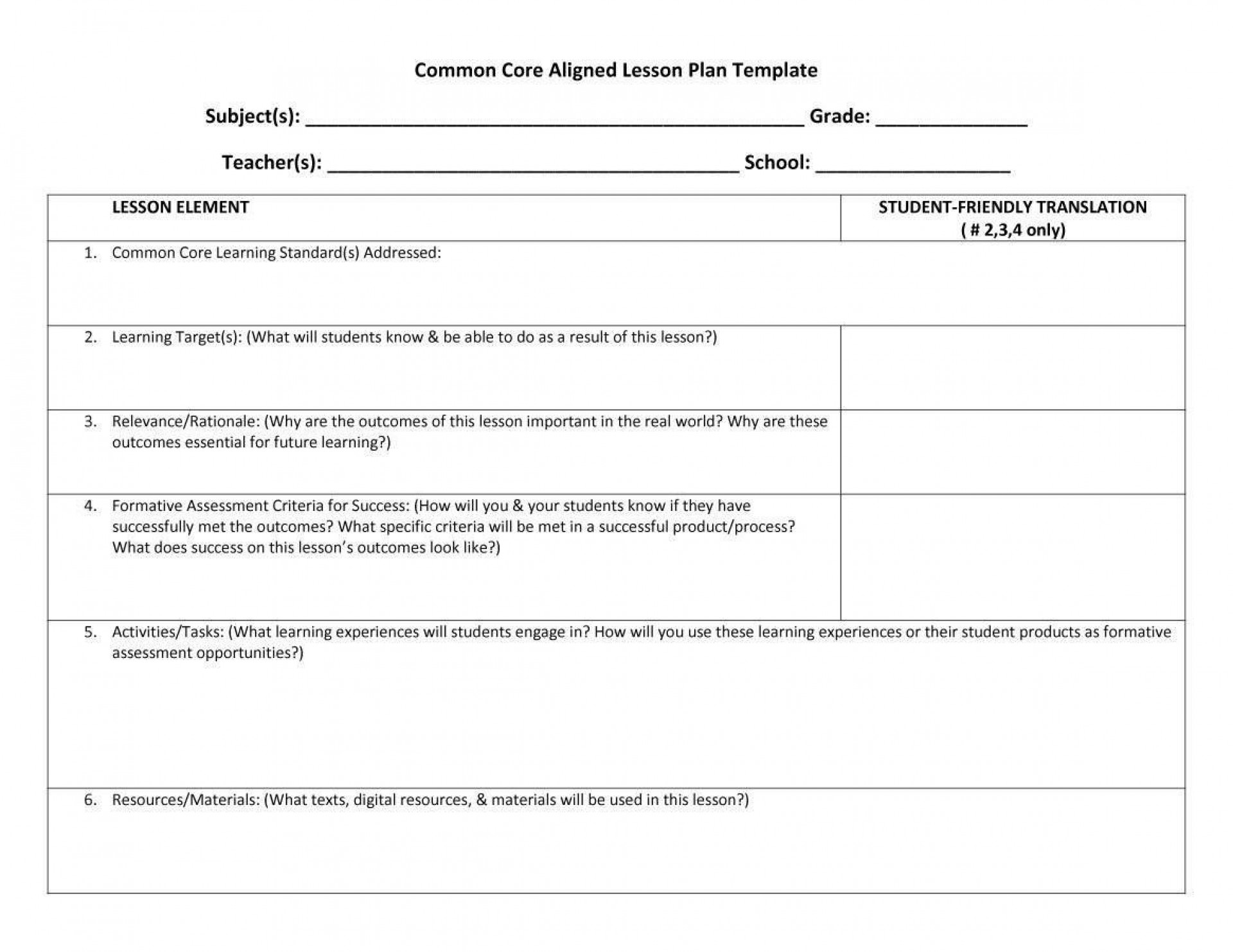007 Unforgettable Lesson Plan Template Pdf Sample  High School Editable Detailed Example1920