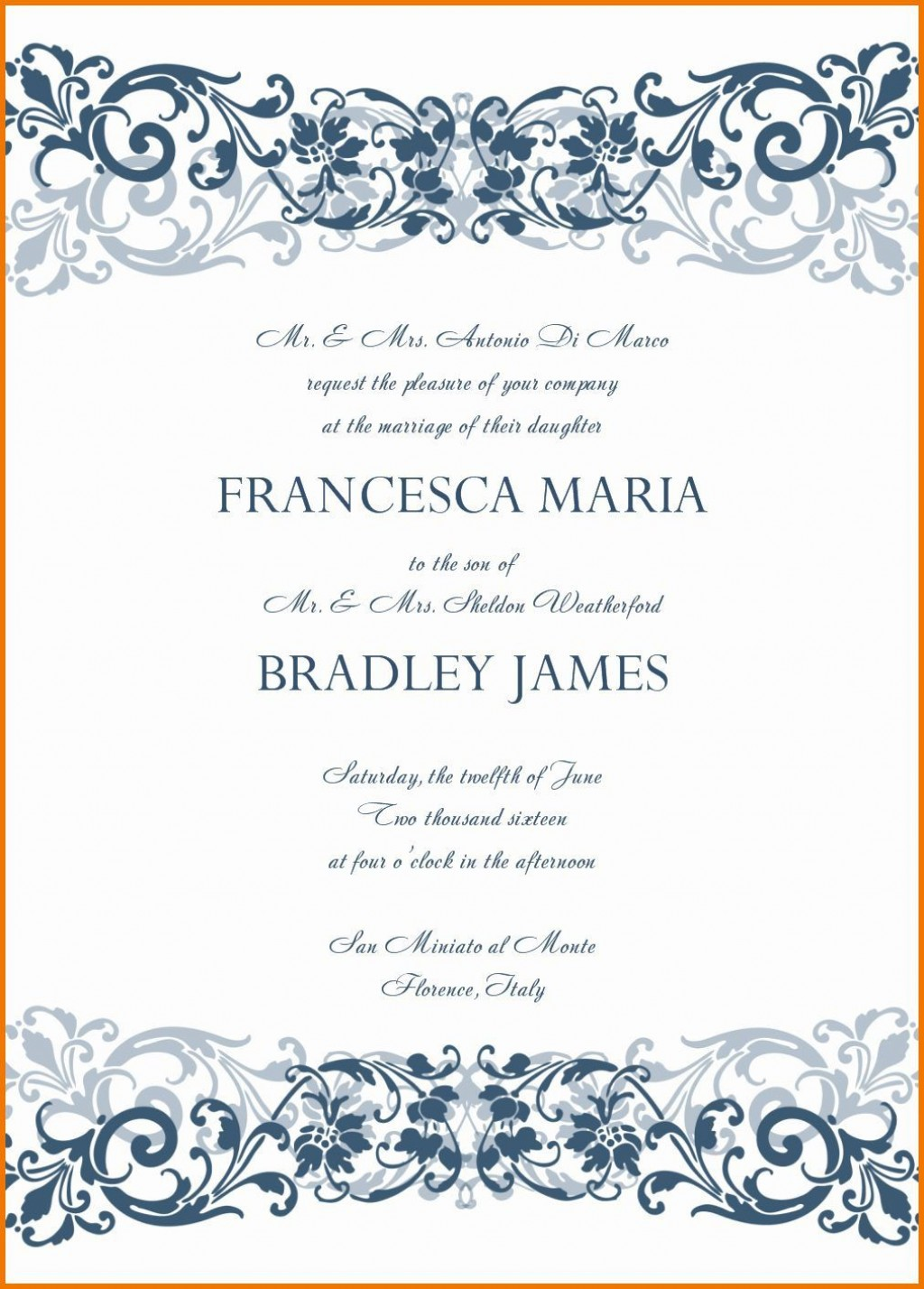 007 Unforgettable Microsoft Office Wedding Invitation Template Highest Clarity  Templates MLarge