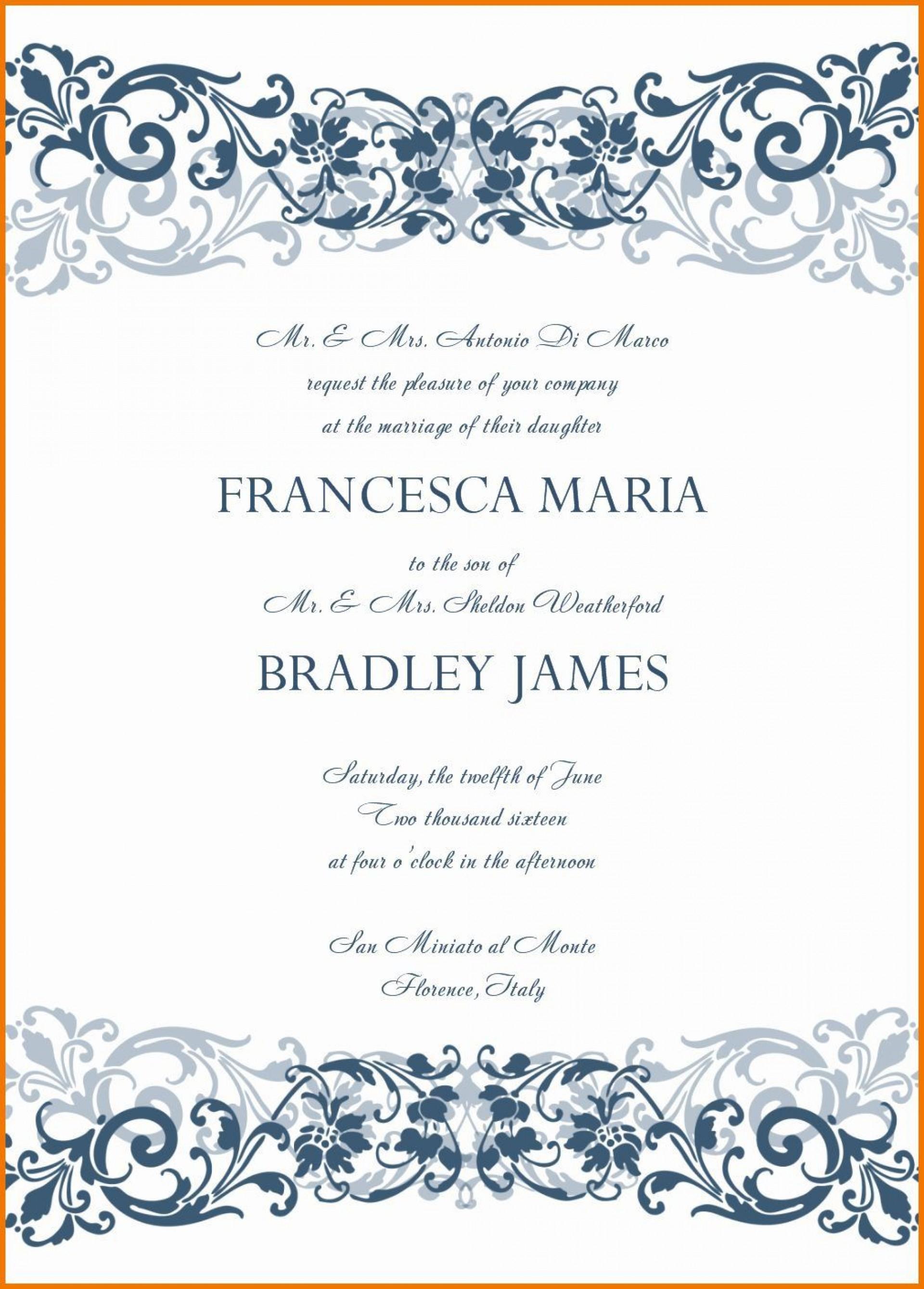 007 Unforgettable Microsoft Office Wedding Invitation Template Highest Clarity  Templates M1920