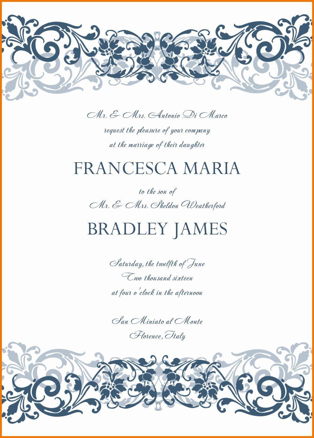007 Unforgettable Microsoft Office Wedding Invitation Template Highest Clarity  Templates MFull