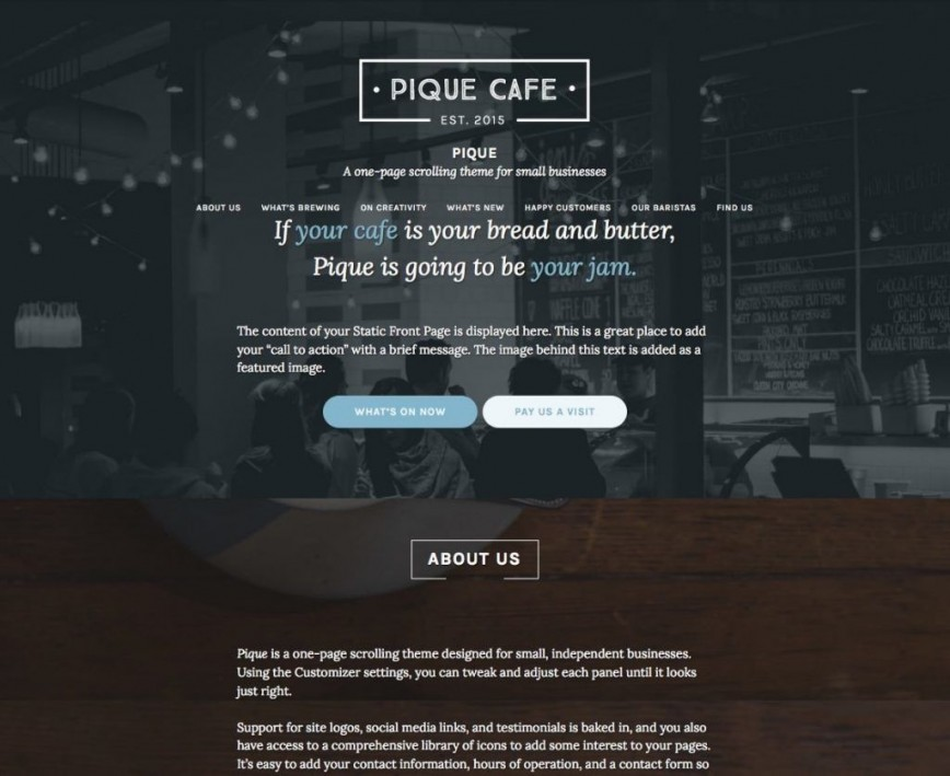 007 Unforgettable One Page Website Template Free Download Wordpres Photo  Wordpress