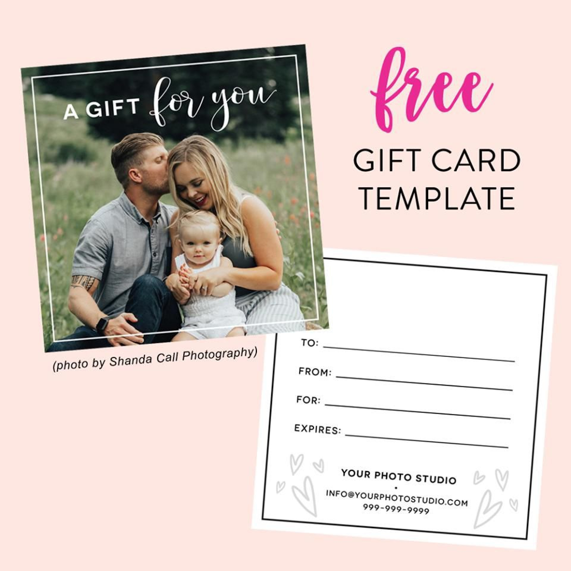 007 Unforgettable Photography Session Gift Certificate Template High Definition  Photo Free1920