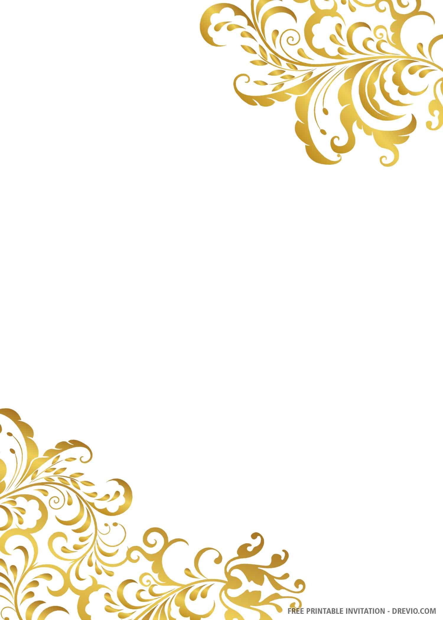 007 Unforgettable Printable Wedding Invitation Template Inspiration  Free For Microsoft Word VintageFull