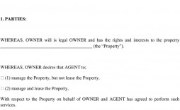 007 Unforgettable Property Management Contract Example Concept  Sample Agreement Form Template Pdf