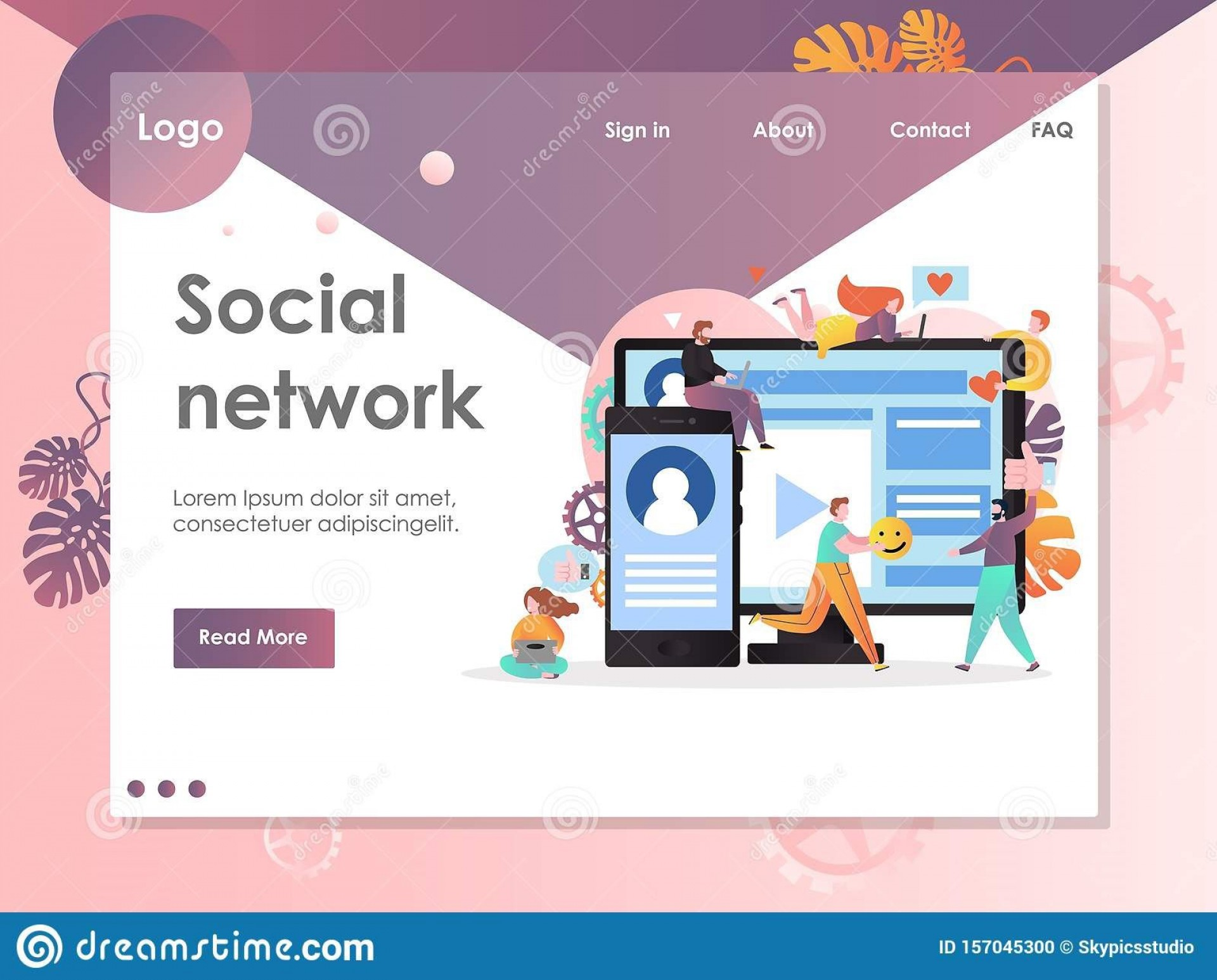 007 Unforgettable Social Media Web Template Highest Clarity  Templates Best Website Free Download1920