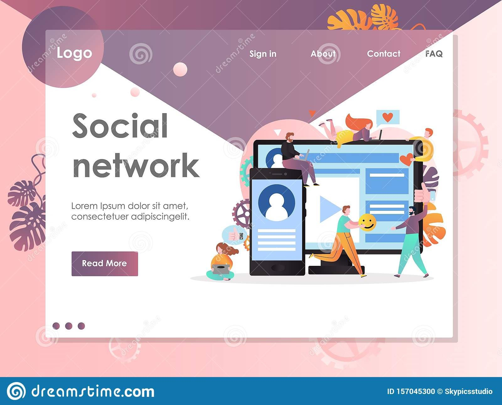 007 Unforgettable Social Media Web Template Highest Clarity  Templates Best Website Free DownloadFull