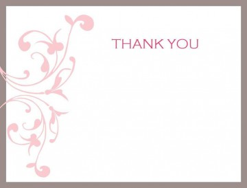 007 Unforgettable Thank You Note Card Template Word Sample 360