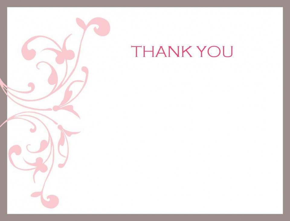 007 Unforgettable Thank You Note Card Template Word Sample 960