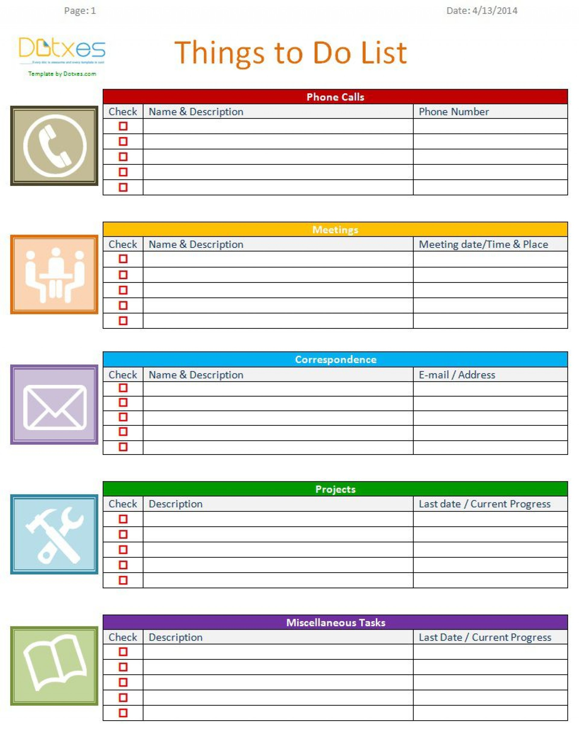 007 Unforgettable To Do List Template Word Example 1920