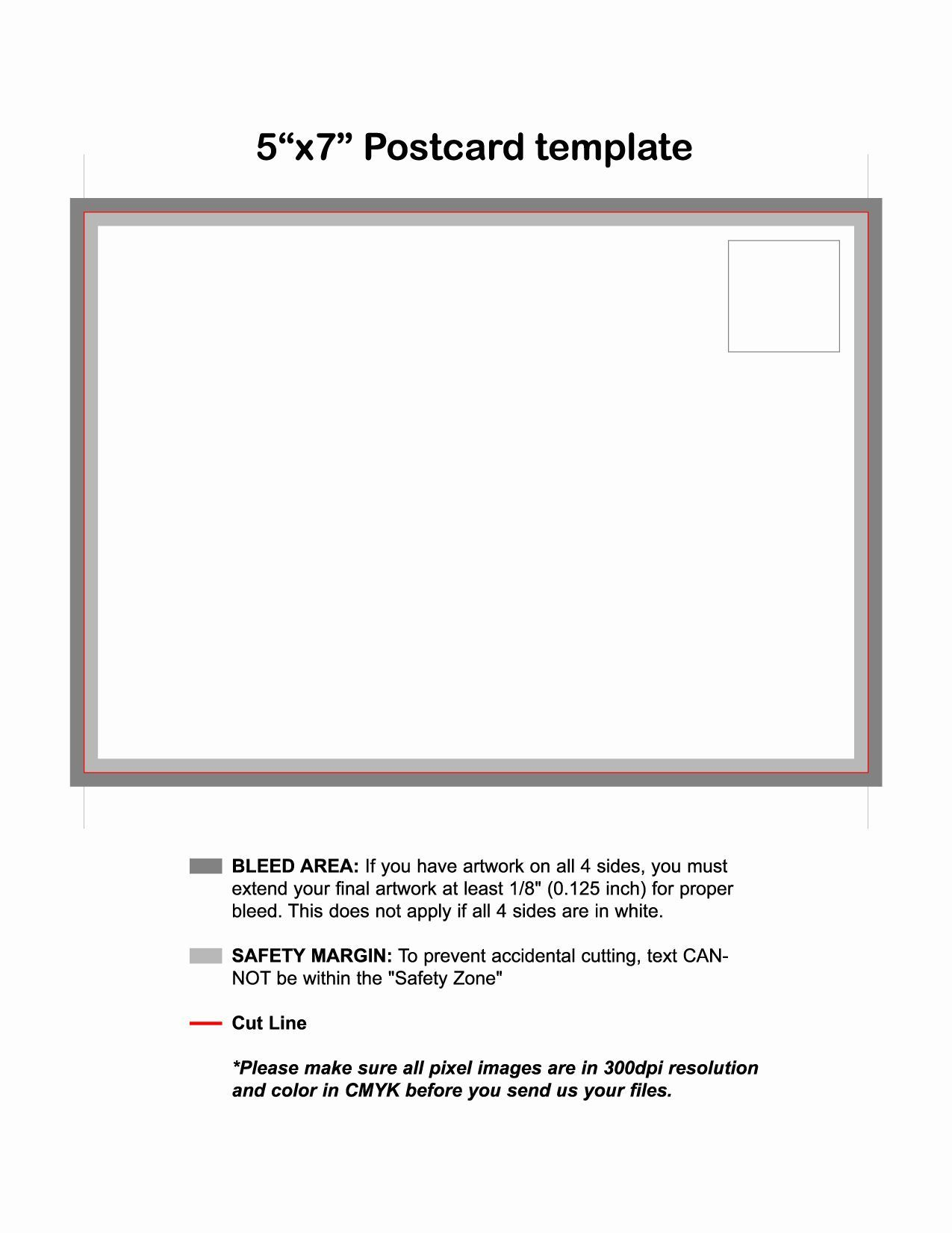 007 Unique 5 X 7 Postcard Template Microsoft Word High Definition Full
