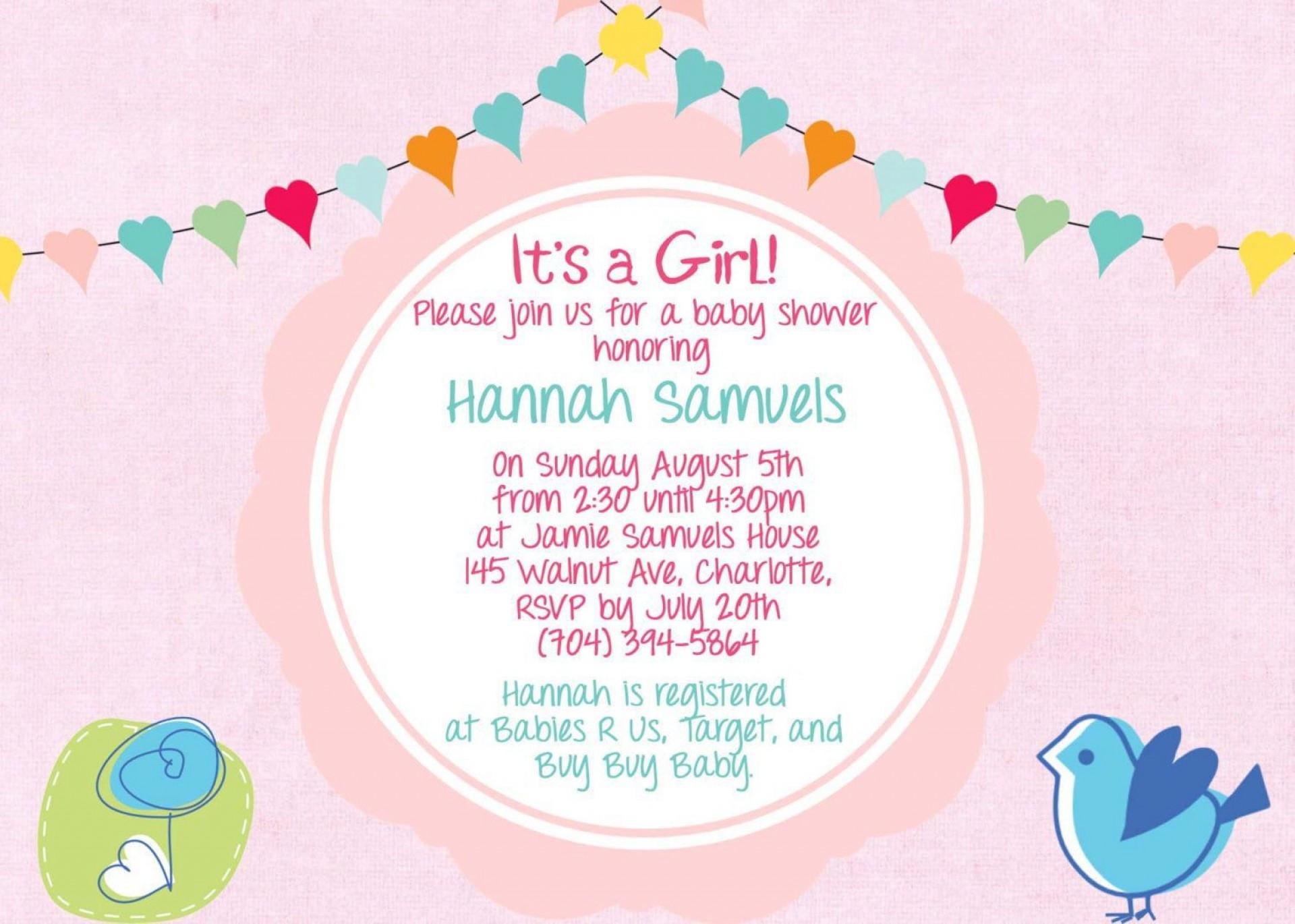 007 Unique Baby Shower Invitation Wording Example Photo  Examples Invite Coed Idea For Boy1920