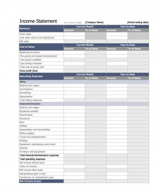 007 Unique Basic Profit And Los Template Image  Free Simple Form Statement Excel For Self Employed320