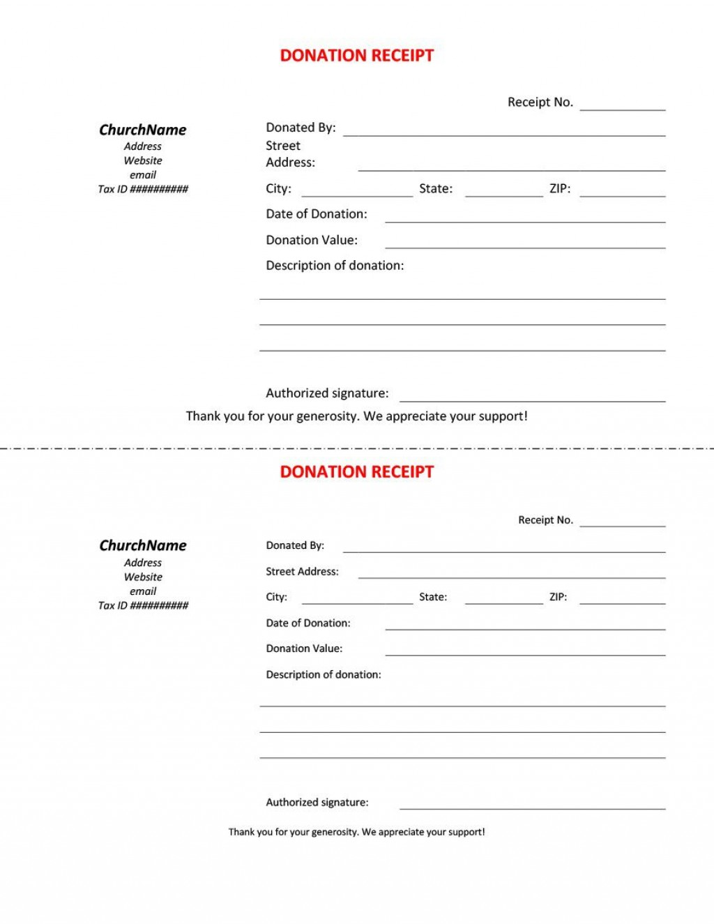 007 Unique Church Tax Donation Receipt Template Highest Clarity Large