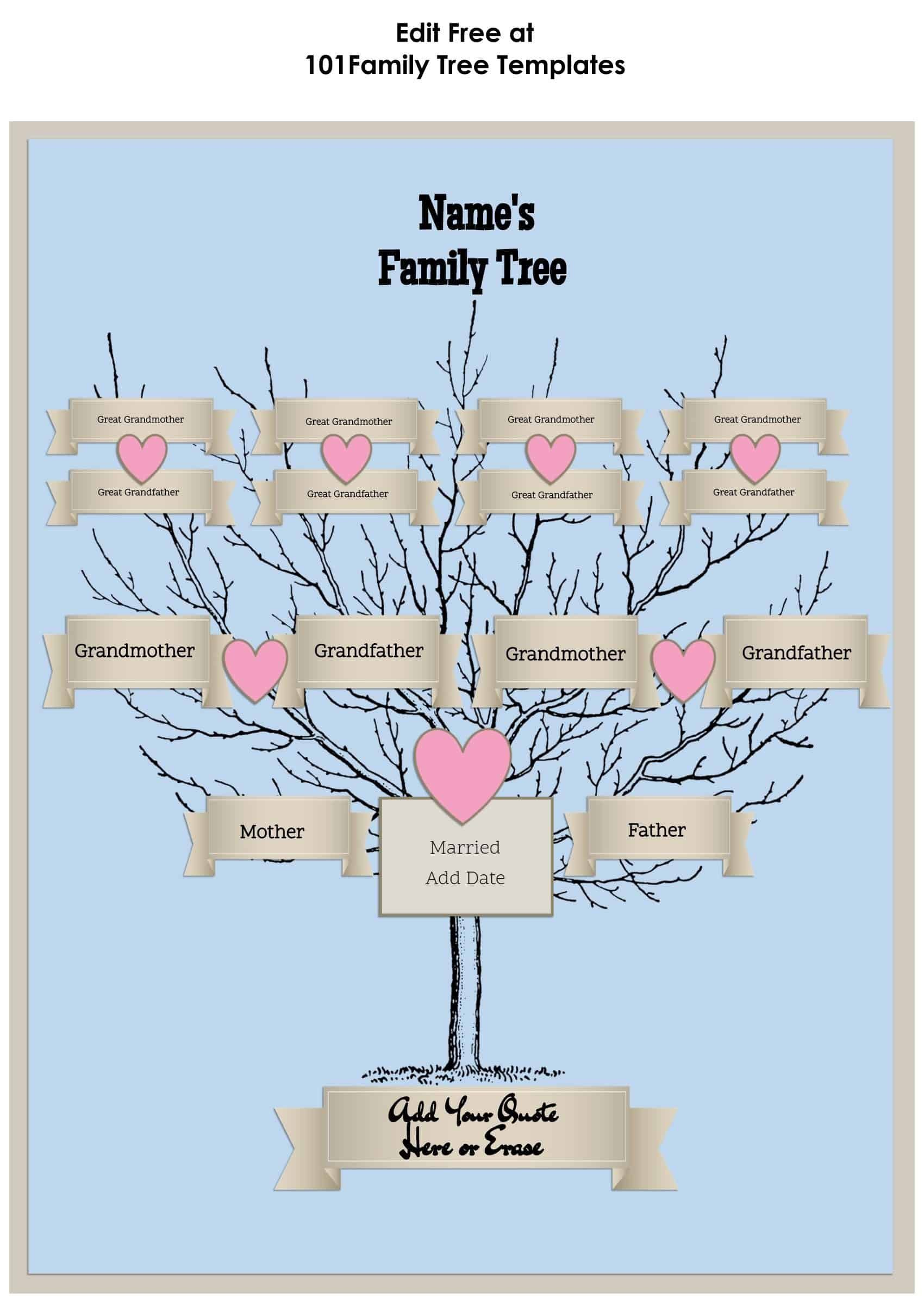 007 Unique Editable Family Tree Template Online Free High Resolution Full