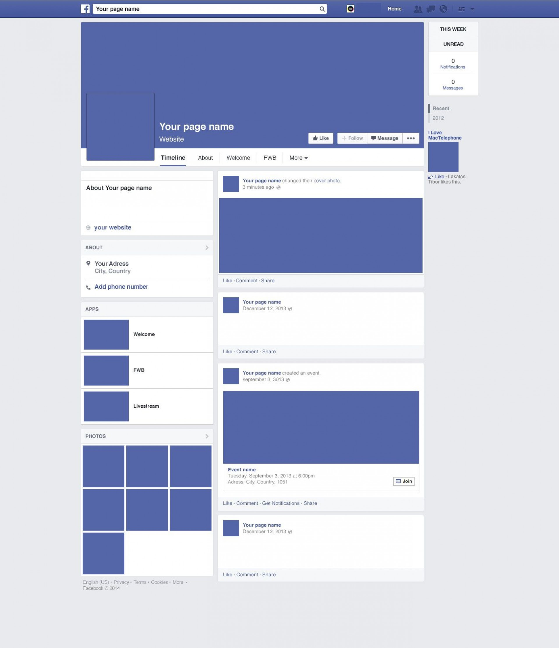 007 Unique Fake Facebook Page Template High Def  Busines Microsoft Word Create A1920