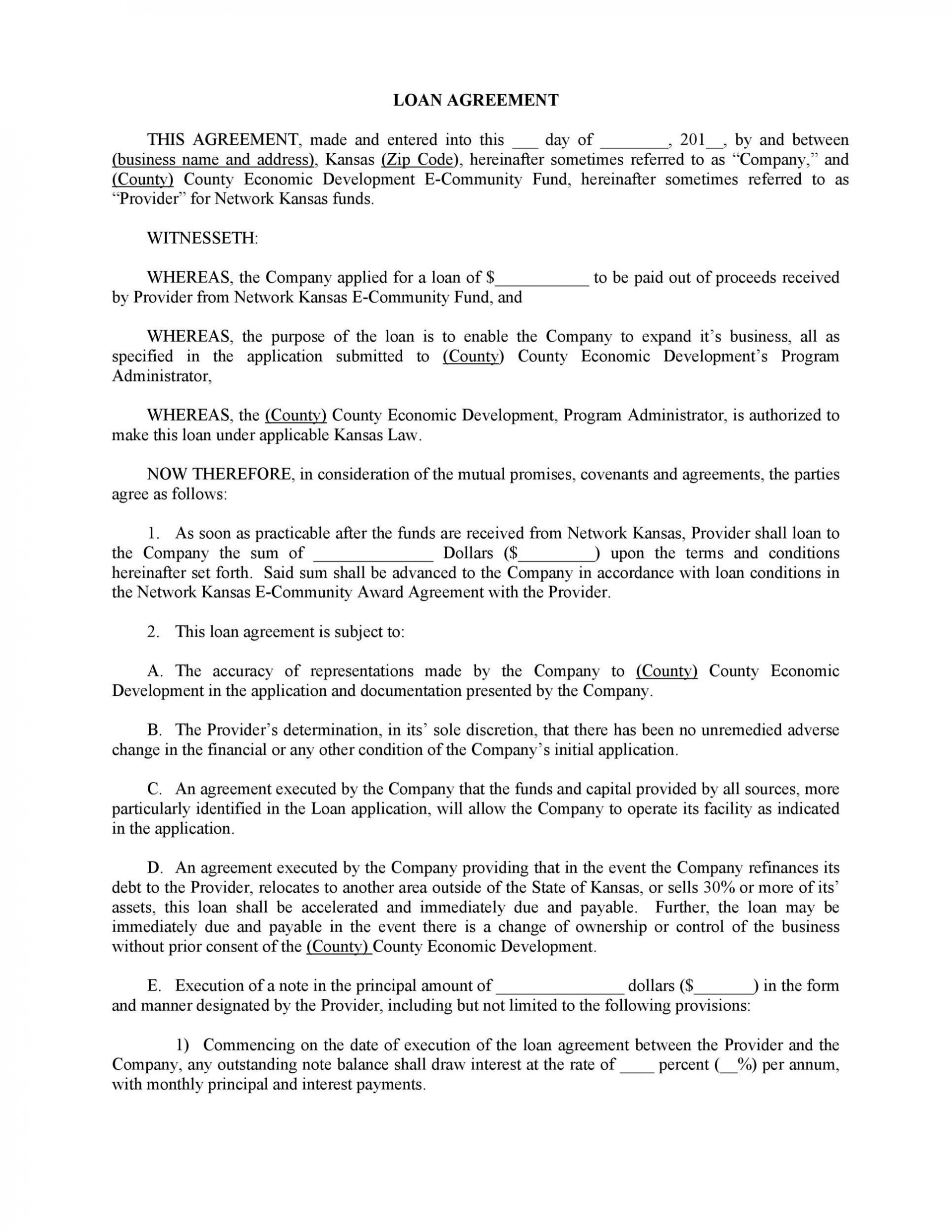 007 Unique Family Loan Agreement Template Pdf Sample  Free1920