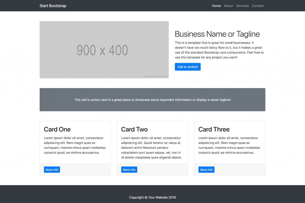 007 Unique Free Busines Website Template Idea  Templates Wordpres For Small Dreamweaver Download Html5 With Css3 JqueryLarge