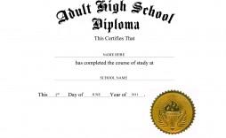 007 Unique Free Diploma Template Download Picture  Word Certificate High School Appreciation
