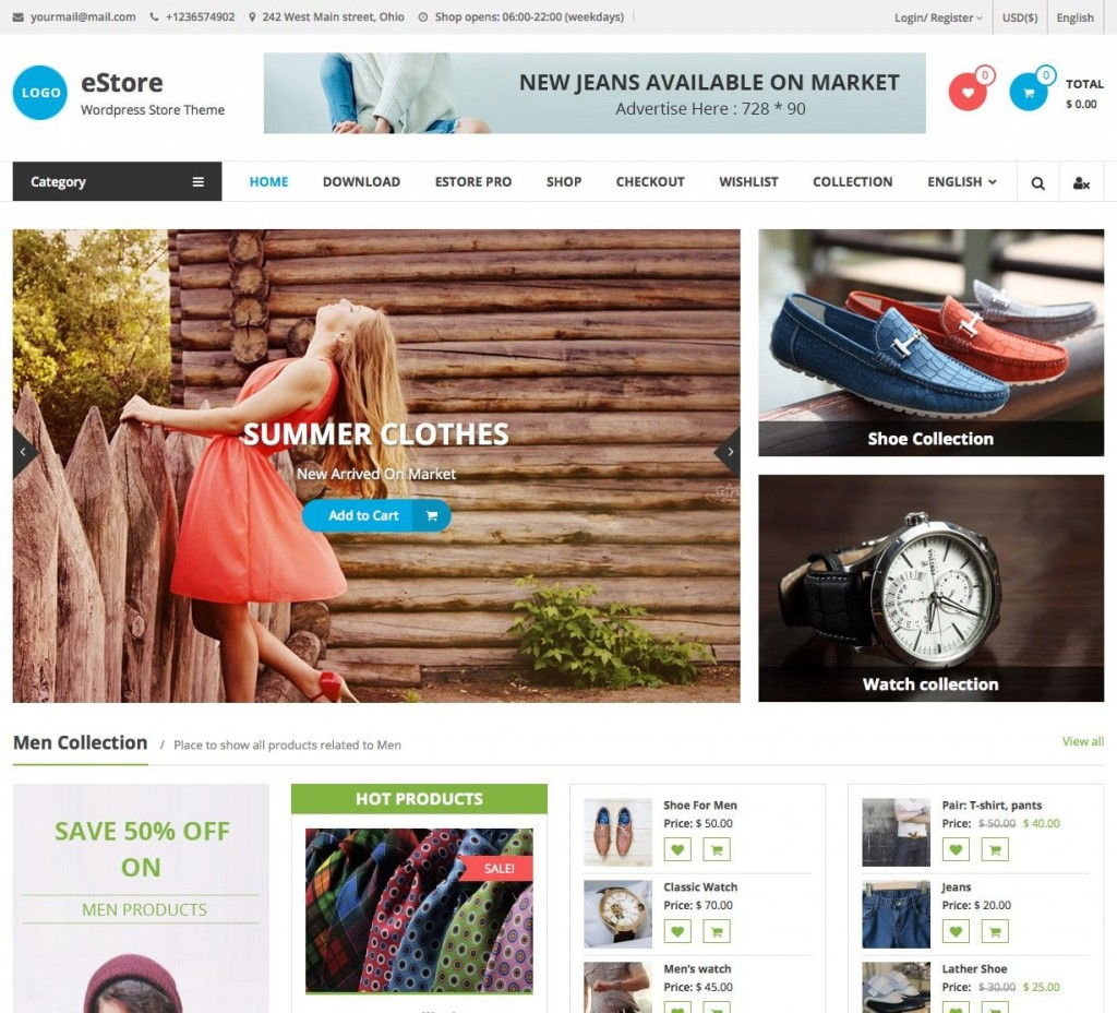 007 Unique Free Ecommerce Website Template Download Design  Shopping Cart Bootstrap 3Large