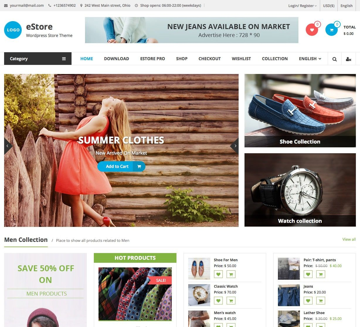 007 Unique Free Ecommerce Website Template Download Design  Shopping Cart Bootstrap 3Full