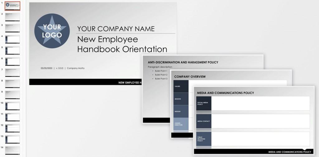 007 Unique Free Employment Handbook Template Image Large