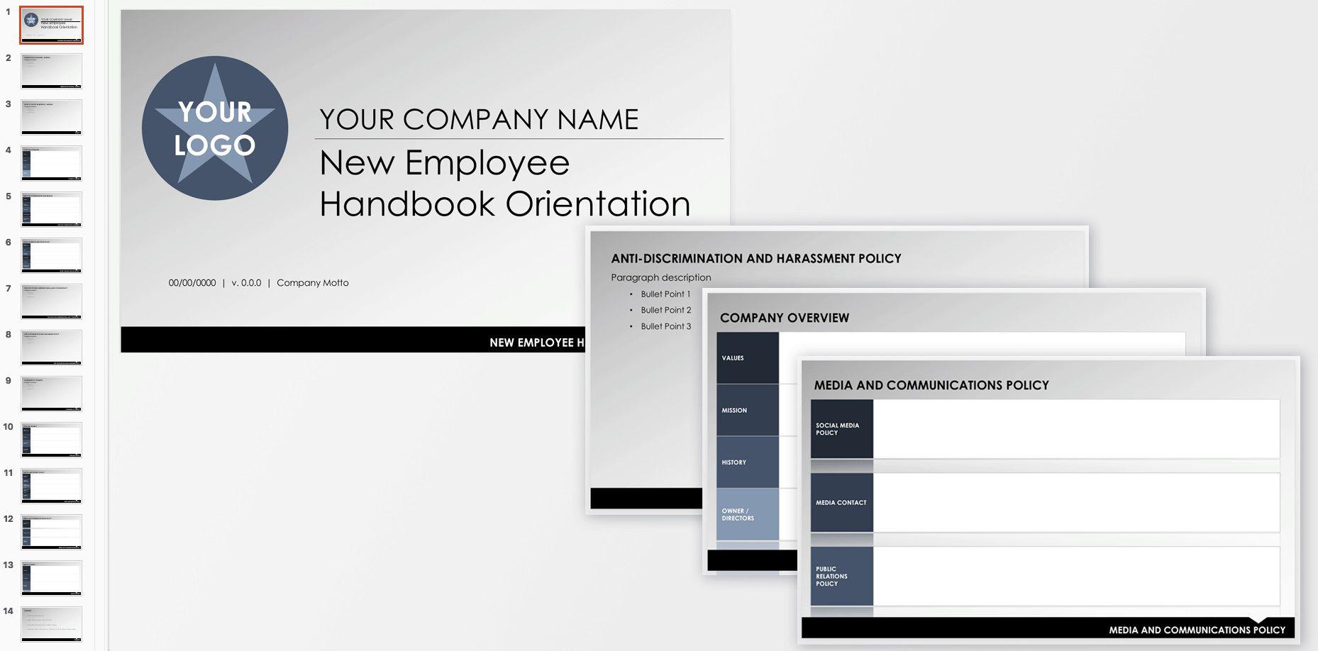 007 Unique Free Employment Handbook Template Image Full