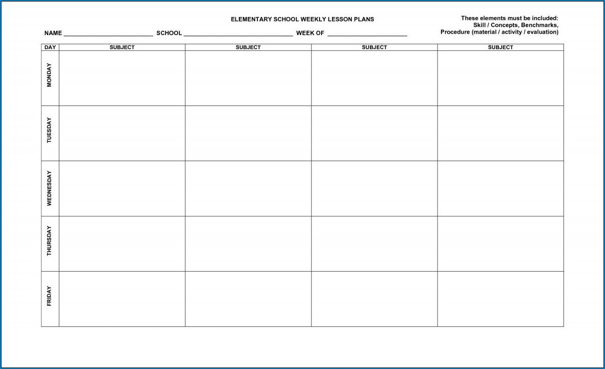 007 Unique Free Printable Lesson Plan Template High Def  Preschool Weekly For KindergartenFull