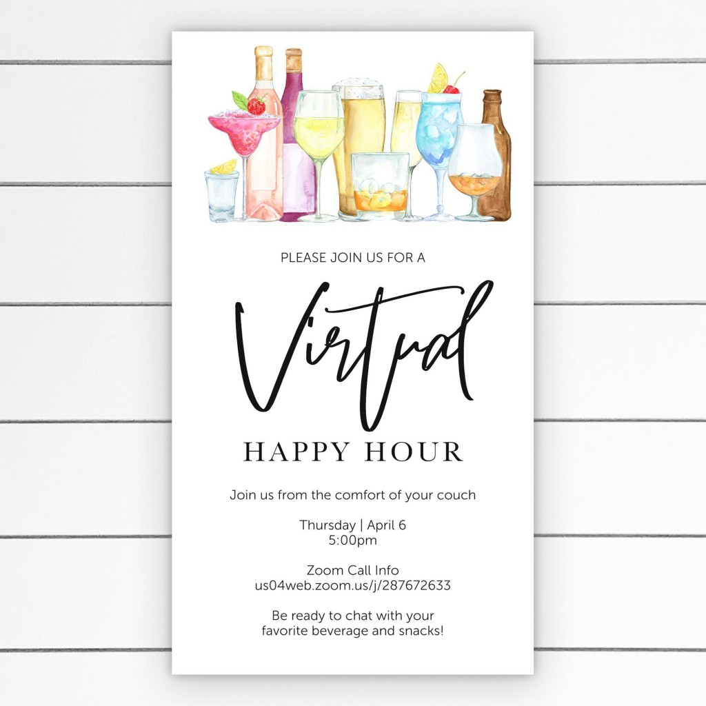 007 Unique Happy Hour Invitation Template Idea  Templates Free Word FarewellLarge