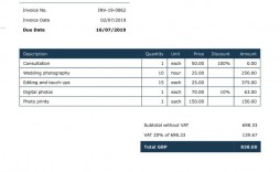 007 Unique Invoice Template Uk Freelance Highest Quality  Example Sample Word