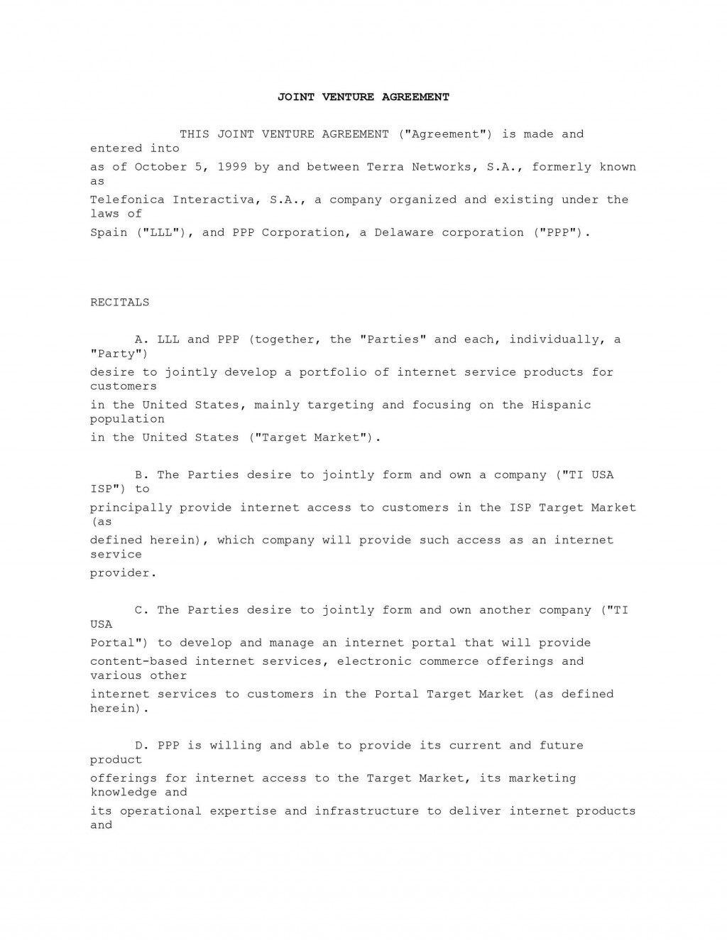 007 Unique Joint Venture Agreement Template Free South Africa High Resolution  DownloadLarge