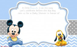 007 Unique Mickey Mouse Invitation Template Picture  Free Diy 1st Birthday Baby Download