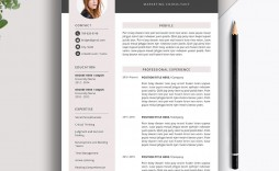 007 Unique Microsoft Word Resume Template 2020 Idea  Free