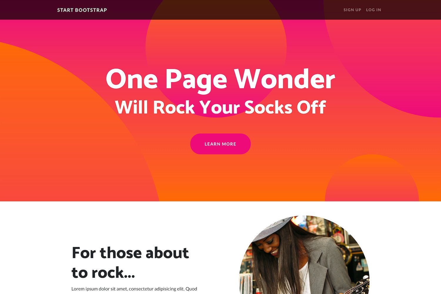 007 Unique One Page Website Template Free Highest Quality  Bootstrap 4 Html5 Download WordpresFull