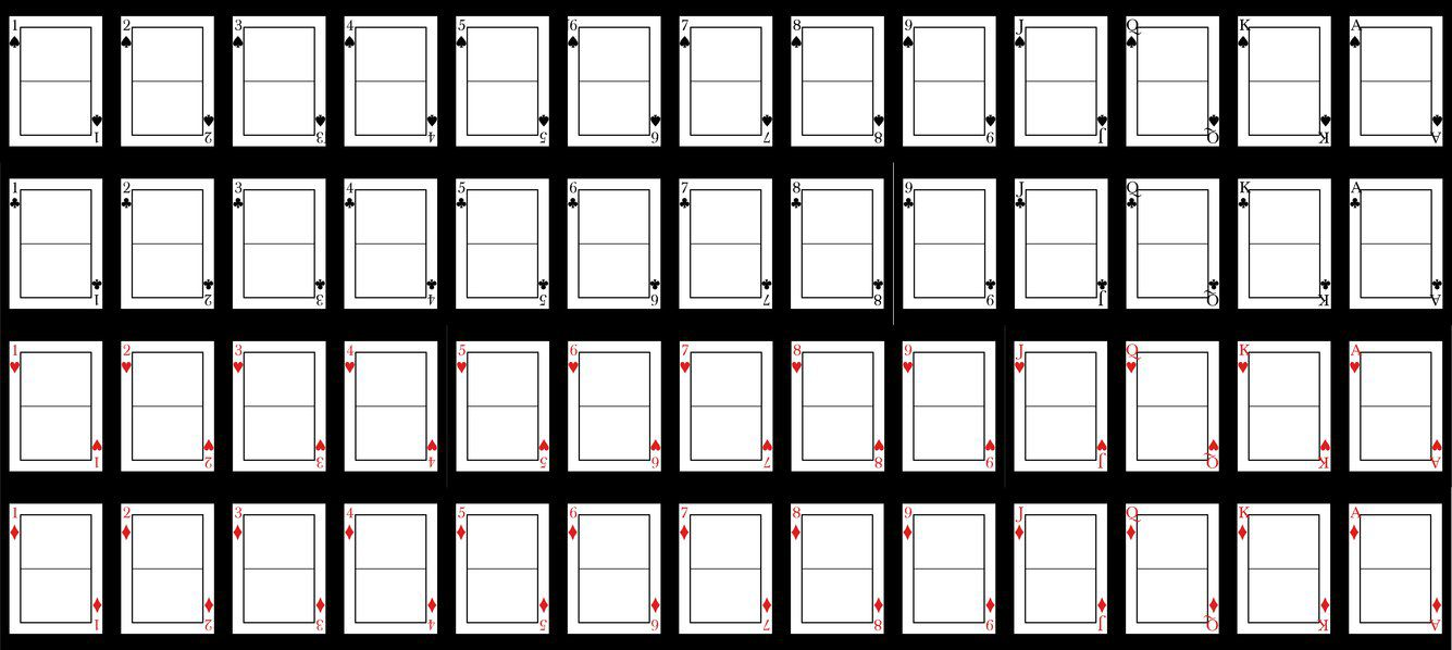 007 Unique Playing Card Template Word Doc Design  DocumentFull