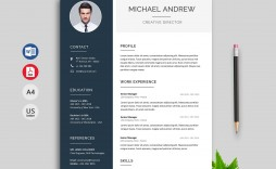 007 Unique Professional Resume Template Word Free Download Idea  Cv 2020 With Photo