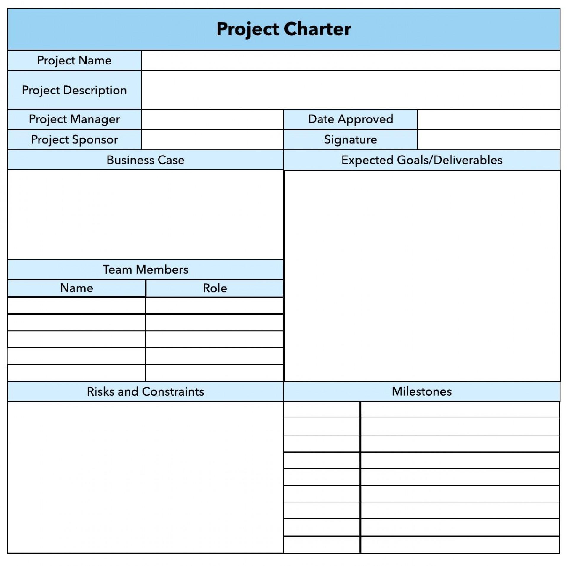 007 Unique Project Charter Template Excel Photo  Lean Pmbok Nederland1920