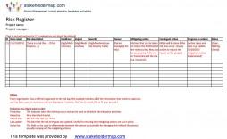007 Unique Project Risk Management Plan Template Excel Free Concept
