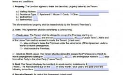 007 Unique Rent Lease Agreement Template Concept  Tenancy Landlord Form Bc House Rental Pdf