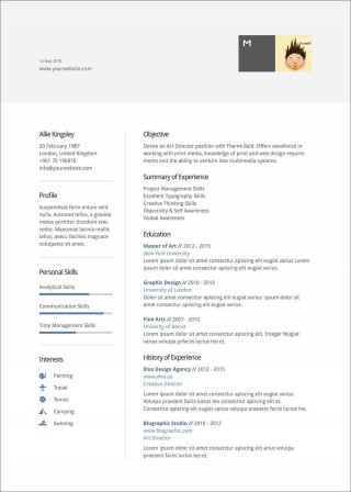 007 Unique Resume Template Word 2016 Design  Cv Microsoft Download Free320